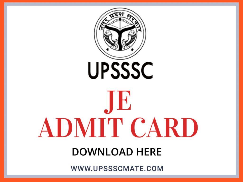 UPSSSC JE ADMIT CARD DOWNLOAD IMAGE