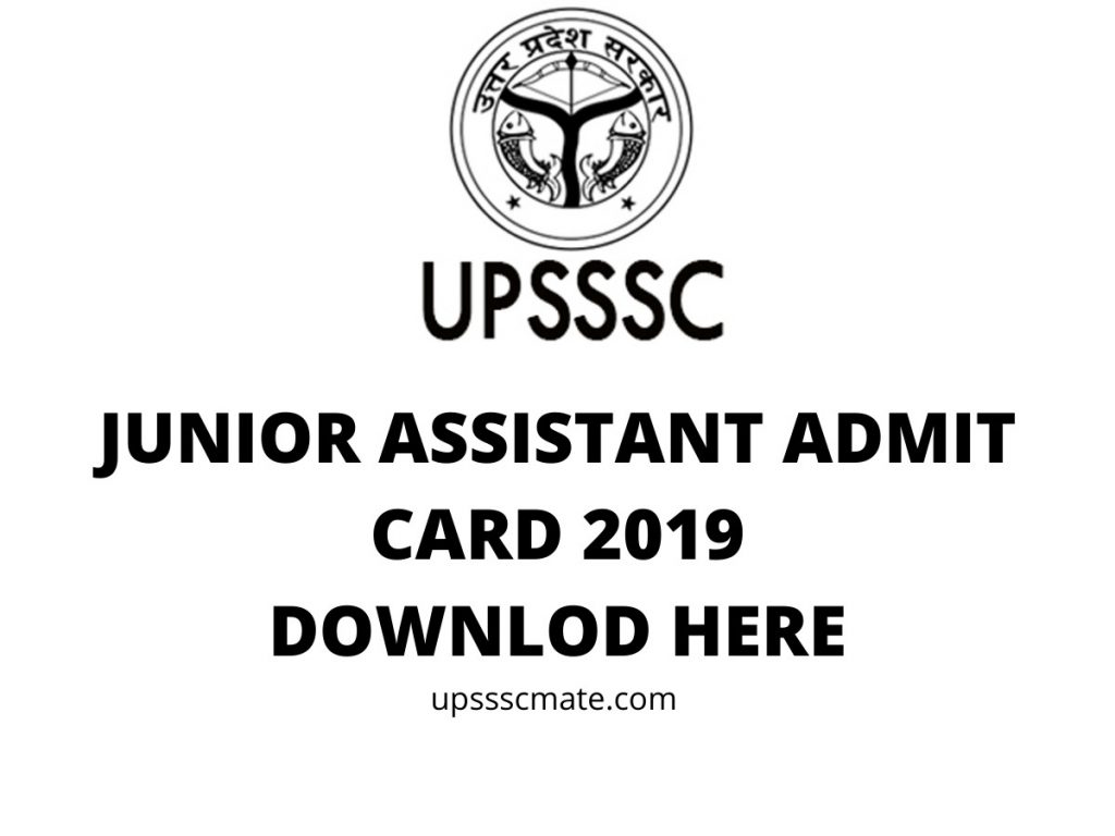 upsssc junior assistant admit card 2019