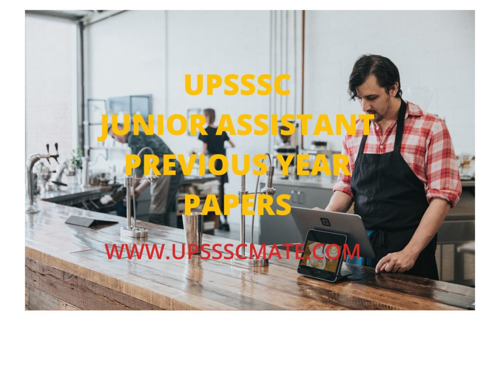 UPSSSC Junior Assistant Previous Year Question Paper PDF in Hindi