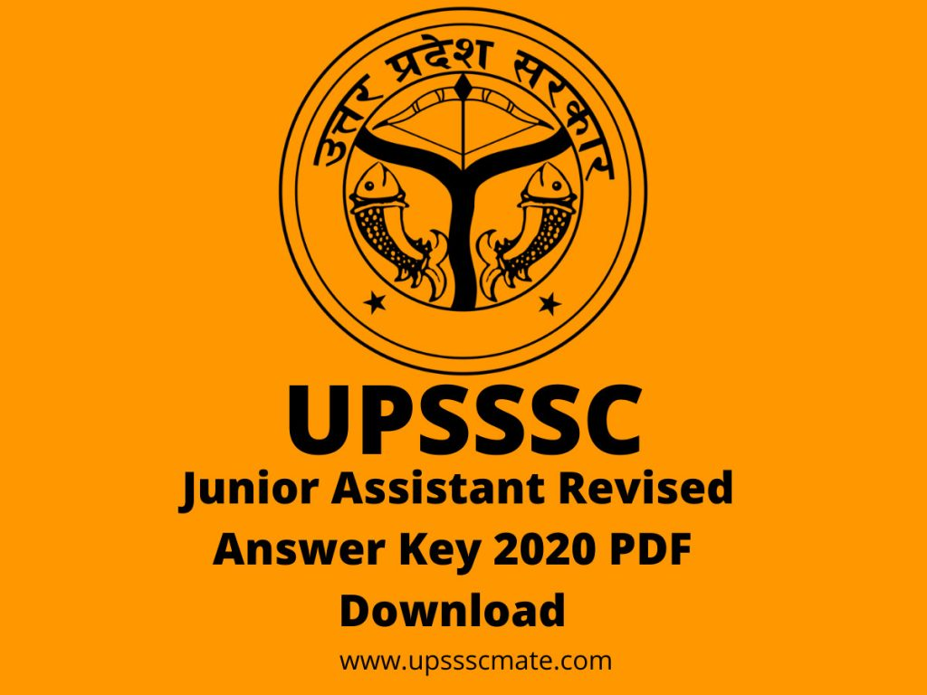 UPSSSC Junior Assistant Revised Answer Key 2020 PDF Download.