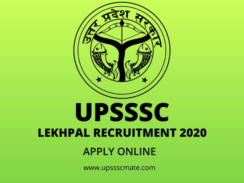 UPSSSC Lekhpal Recruitment 2020 Apply Online