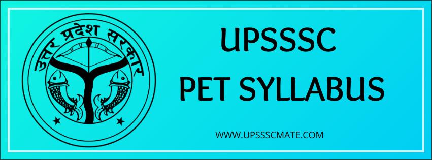 UPSSSC PET SYLLABUS