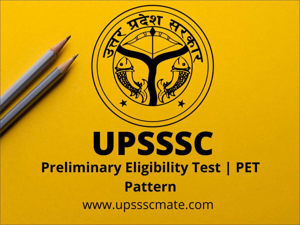 Upsssc PET Exam Pattern