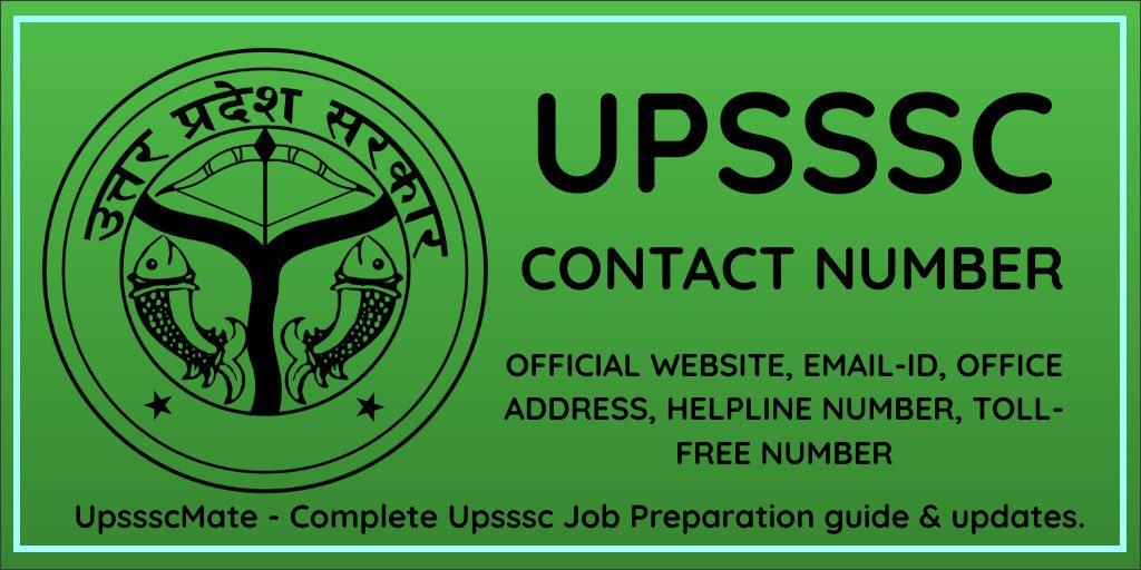Upsssc Contact Number